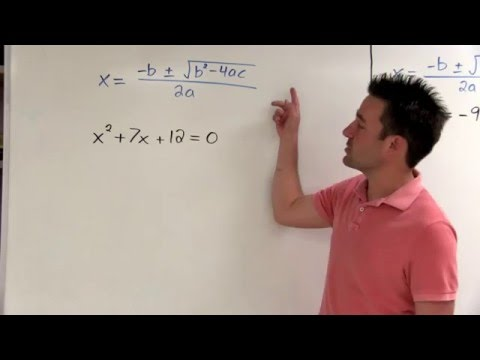 Using the Quadratic Formula to Find Real and Complex Solutions - (imaginary solutions, i)