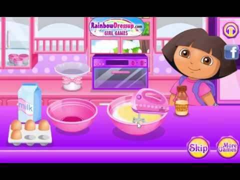 Dora The Explorer is making a cake - Kids free video game