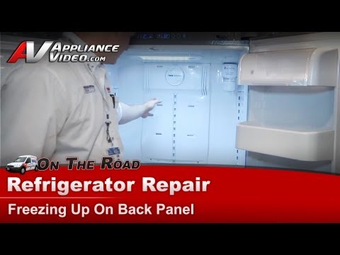 Refrigerator Repair - Not cooling properly, freezing up on the back panel -Samsung
