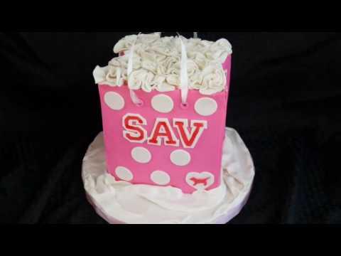 PINK Shopping Bag Cake