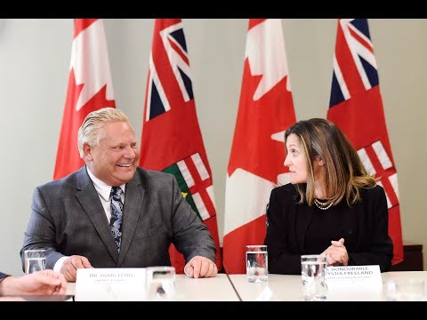 NAFTA briefing with Doug Ford and Chrystia Freeland