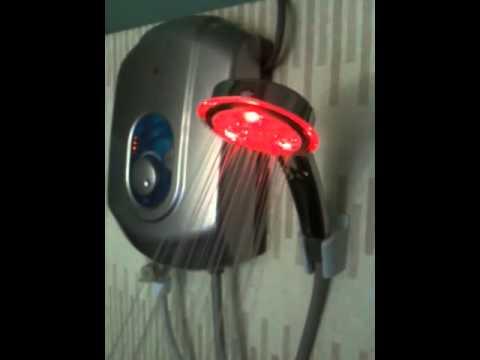 Temperature Sensor LED hand shower
