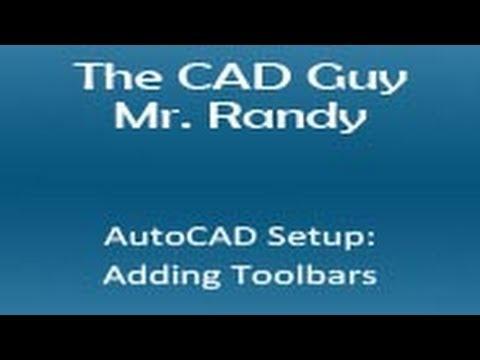 AutoCAD 2013 Adding Toolbars