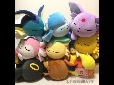 Japan Pokemon Large Eeveelution Sleeping Plushies Umbreon Vaporeon