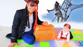 Download СОКРОВИЩА ПИРАТОВ ДЛЯ МАЛЫША СТИВЕНА И ПАПЫ ПОТАПА - Видео для Детей // Papa Potap Video