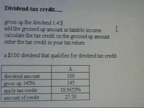 Dividend tax credit