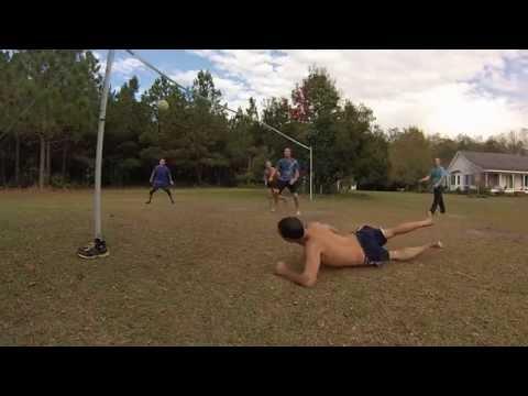 Grass court volleyball