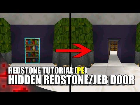 Minecraft PE Redstone: Completely Hidden Redstone/Jeb Door!