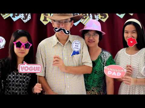 Special Photobooth, Customized Props to Celebrate Father's Day