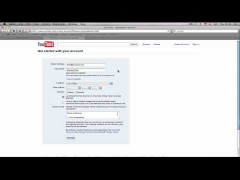 How to - Create a Youtube Account without Google Mail