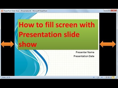How to present PowerPoint Presentation in Full Screen
