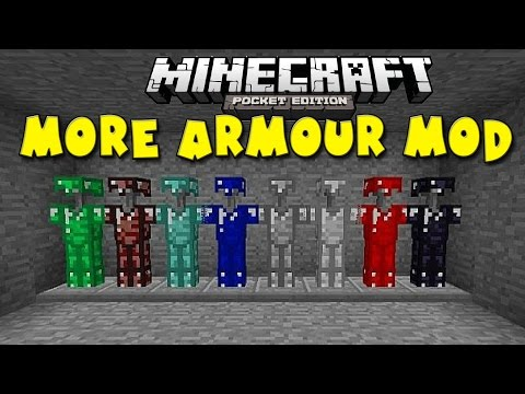 MORE ARMOUR MOD in MCPE!!! - Awesome Armour Abilities - Minecraft PE (Pocket Edition)