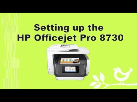 HP Officejet Pro 8710 | 8720 | 8730 | 8740 Printer Setup and Connection - Part 1