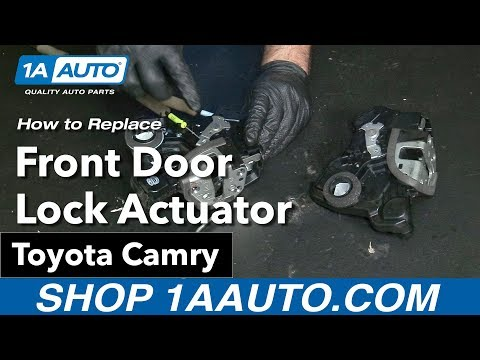 How to Replace Install Front Door Lock Actuator 09 Toyota Camry