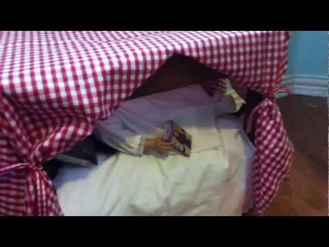 DIY Doll Canopy Bed!