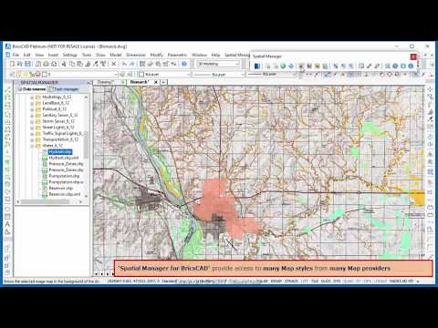 Google Maps in your BricsCAD drawings? Of course -  Spatial Manager Blog