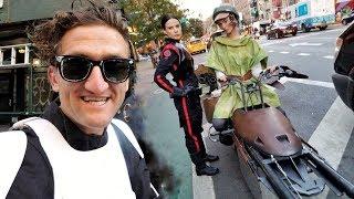 STAR WARS SPEEDERS IN NYC making of!!