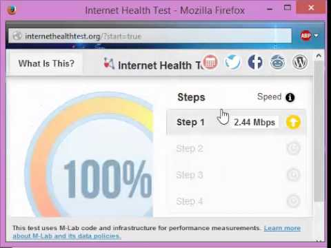 Internet Health Test Slowing Down