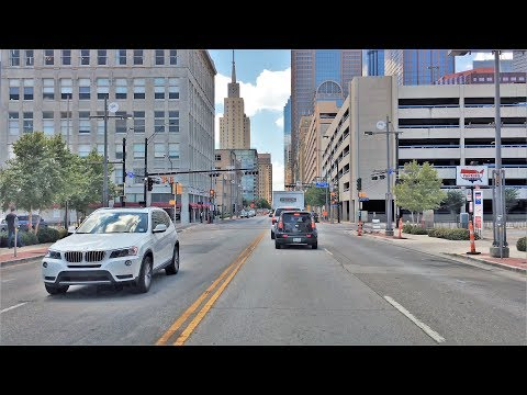Driving Downtown - Dallas' Main Street 4K - USA