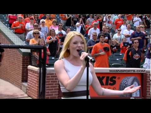 Ruby Lewis (Scaramouche) Sings the National Anthem at an Orioles Game