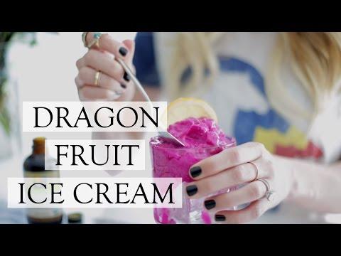 DRAGON FRUIT ICE CREAM   Easy Homemade Ice Cream