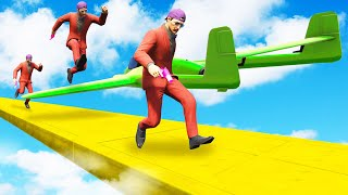 99% IMPOSSIBLE PLANE DODGE!? (GTA 5 Funny Moments)