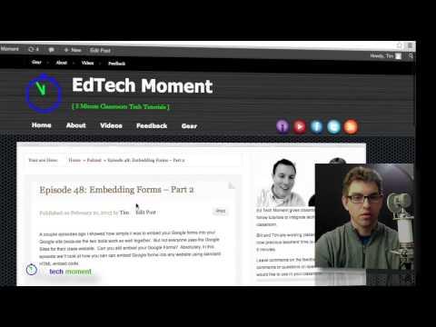 Episode 48: Embedding Google Forms - Part 2