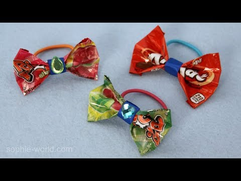 How to Make a Bow from a Candy Wrapper | Sophie's World