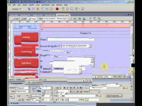 Create a feedback form in DreamWeaver