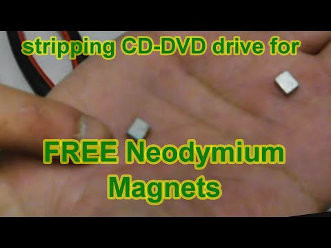 Free Neodymium Magnets from Scrap CD DVD drives- 100th Subscriber edition