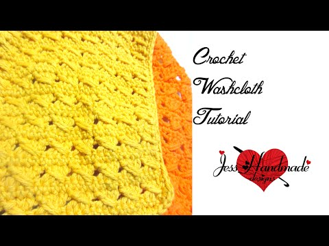 How to Crochet a Dish Cloth: Cross Stitch Wash/ Dishcloth Tutorial