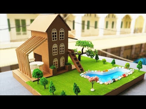How To Make A Beautiful Mansion House From Cardboard  -   DreamHouse  - Project For Kids