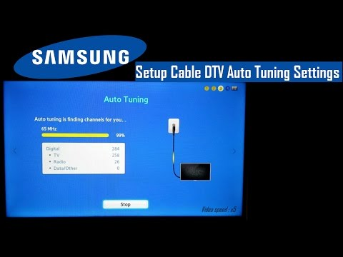 Samsung TV SETUP Cable DTV Auto Tuning Settings. FAST and EASY