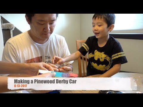 Making a Pinewood Derby Car