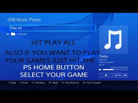 How to listen to music and play same time on ps4