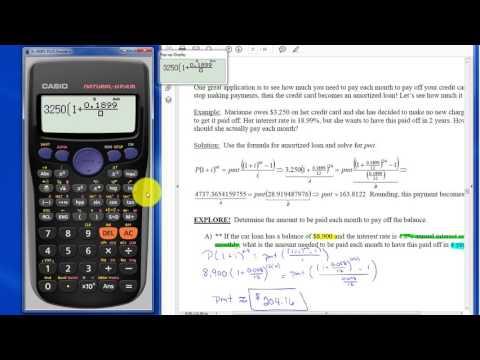 Amortized Loan  - Calculator