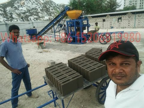 QT4-24 semi automatic concrete cement hollow brick and block making machine in Maldives
