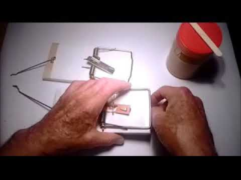 Snap Trap Actuator using Victor or Tomcat rodent trap parts