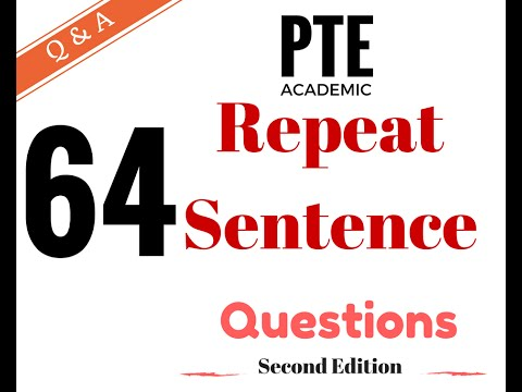 pte academic test practice repeat sentence