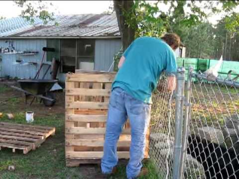 Building A 2 Bay Compost Bin Out Of Pallets