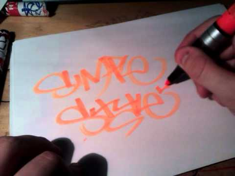 Starting Graffiti: Basic Graffiti Tagging, Tips and style.