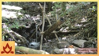 Primitive Technology: Water powered hammer (Monjolo) height=