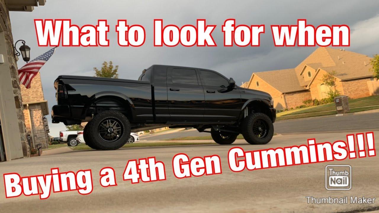 Buying a 4th Gen Cummins Watch this....