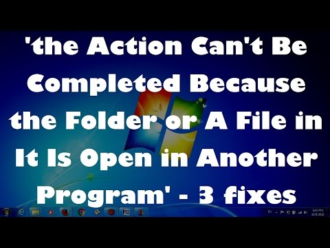 How to Fix '....... Because the Folder or A File in It Is Open in Another Program' - (Solved..!!)
