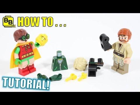 TIPS ON HOW TO TAKE LEGO MINIFIGURES APART!