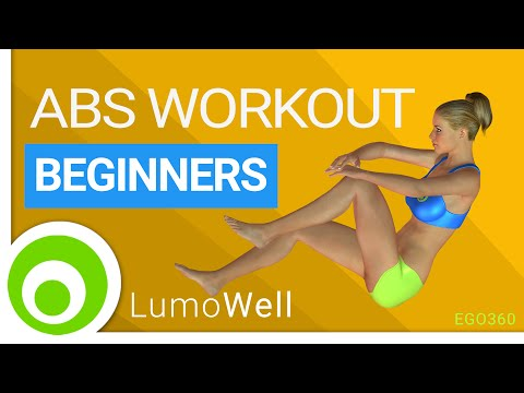 Easy ab workout for beginner at home. Flat stomach exercises.