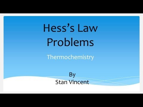 Hess Law | Problem Solving | Heat of Formation |