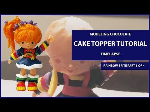 Modeling Chocolate Cake Topper Tutorial Timelapse (Rainbow Brite Part 3 of 4)