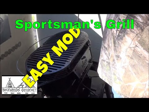 Lodge Sportsman's Grill Small Modification Makes it Easier to Handle