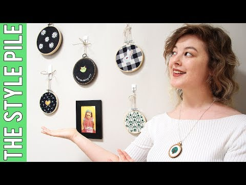 How to Make Embroidery Hoop Art (using Scrap Fabrics) | Style Pile #20